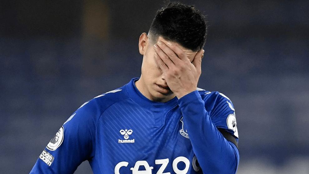 La razón por la que James no juega en el Everton